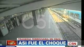 C5N - TRAGEDIA EN EL TREN SARMIENTO EN ONCE: ASI FUE EL CHOQUE