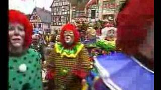preview picture of video 'ECV beim Rosenmontagszug 2003 in Kiedrich'