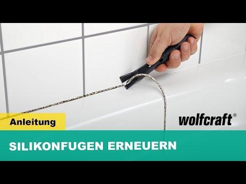 Silikonfugen erneuern - so einfach geht's | wolfcraft