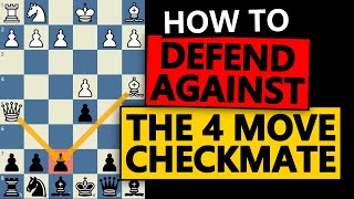 How to STOP the 4 move checkmate - 2 ways to prevent it!