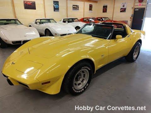 1979 Bright Yellow Corvette Auto T-Top Video