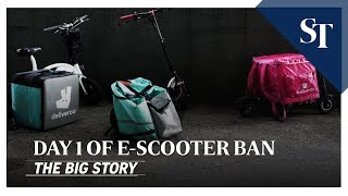 THE BIG STORY: Day 1 of e-scooter ban | The Straits Times