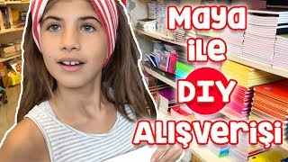 Shopping with Maya for Back to School DIY Projects | Bizim Aile
