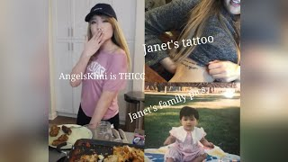 Janet Shows Her Tattoo.Angelskimi Shows Her Shoulder. Angelskimi Is Thicc. Janet Irl. Janet's Sings.