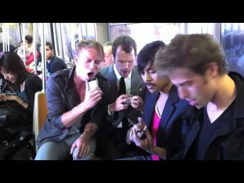 """Take Me Out"" by Atomic Tom LIVE on NYC subway"