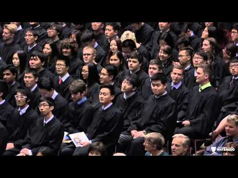 UWaterloo Convocation 2015 October 23 pm ceremony