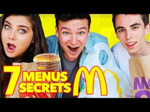 Test de 7 Menus SECRETS McDonald's!!