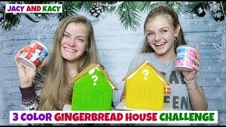 3 Color Gingerbread House Challenge ~ Jacy and Kacy