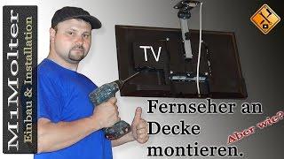 TV unter Decke montieren - so geht's von M1Molter