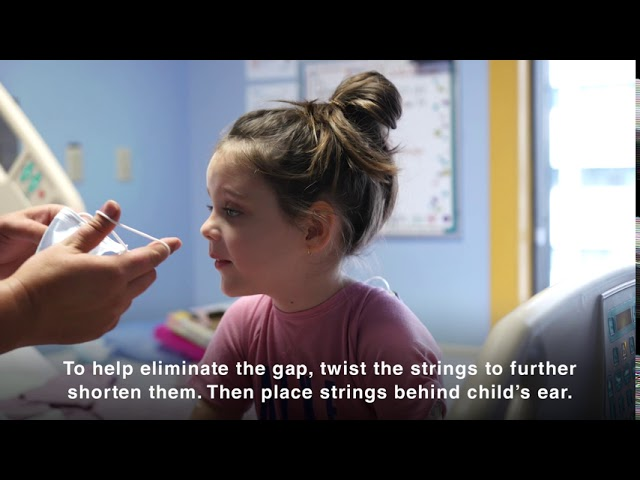 Adjusting an Adult mask for Pediatric Use
