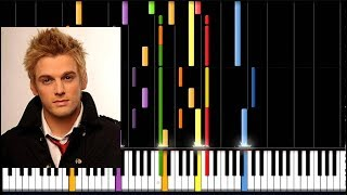 How To Play Aaron Carter _ Looking at life through my own eyes Piano Tutorial 100% Speed