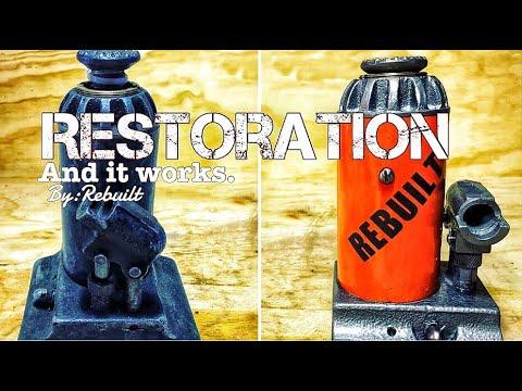 🍕Bottle Jack Restoration. (Seized and rusted)