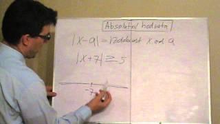 Nerovnice s jednou absolutní hodnotou - geometrický význam