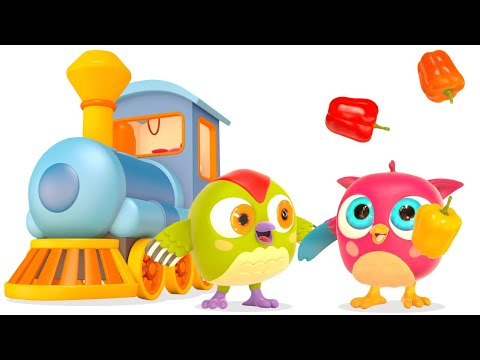 Развивающие мультики Совенок ХопХоп. Овощи для малышей. видео