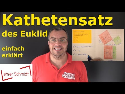 Cover: Kathetensatz des Euklid   Mathematik   Geometrie - einfach erklärt   Lehrerschmidt - YouTube