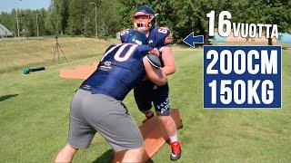 Vahvamies vs NFL lupaus | ft. Olaus Alinen