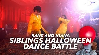SIBLINGS HALLOWEEN DANCE BATTLE (IT REMIX) | Ranz and Niana