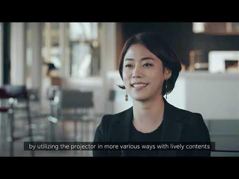 Epson LightScene projectors' customer story: Brownholic cafe, Cosmo40 exhibition & EYE TALK (Korea)