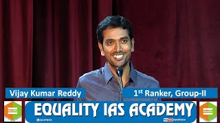Group 2 First Ranker Shri. Vijay Kumar Reddy - Preparation Strategy