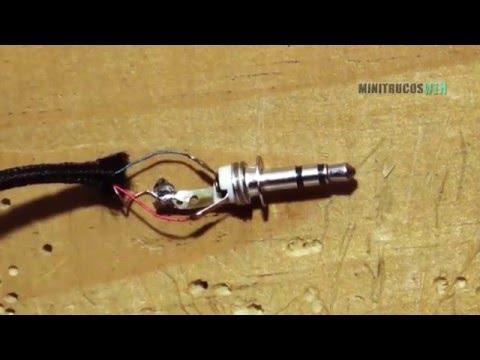 Repara tus audífonos   Cambio de conector/mini jack estereo 3.5