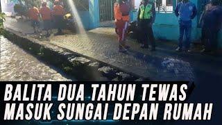 Orangtua Lengah, Balita 2 Tahun di Mojokerto Tewas Tercebur Ke Dalam Sungai di Depan Rumahnya