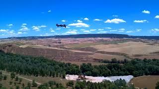 Hubsan H501S X4 visto a 60 metros de altura