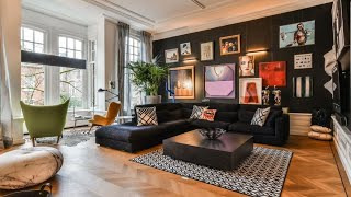 Eclectic House Tour • Black Walls & Colorful Decor • Amsterdam | Interior Design