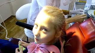 Лечение зуба. Детский стоматолог. Лечение без боли