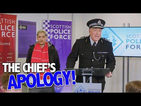 Omluva velitele policie