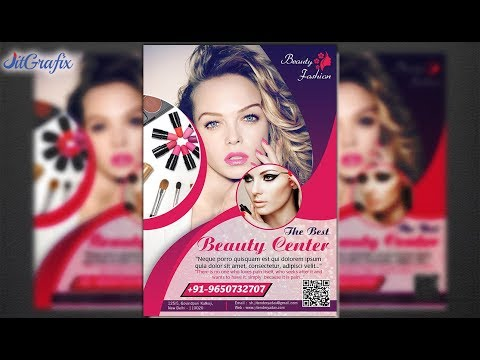 Flyer Design In Illustrator | BeautyCare & Salon Flyer Design | Fashion Leaflet Latest Mp3