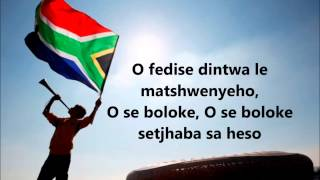 Nkosi Sikelel' iAfrika (south african national anthem, with lyrics) - Inno nazionale sudafricano