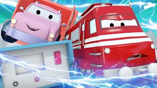 Train for kids -  Pickle the pick up truck  - Troy The Train in Car City