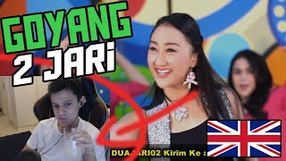 *REACTION* GOYANG 2 JARI - Sandrina  (Goyang 2 Jari Sadrina English Reaction)