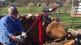 Log Splitter And Hoist