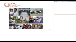 SDG Philanthropy Platform: Engaging Philanthropy in Global Development