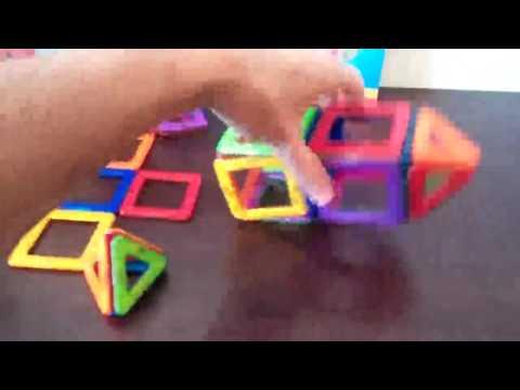 Magmagic Módulo juguetes magnéticos, Juego construcción magnético de colores