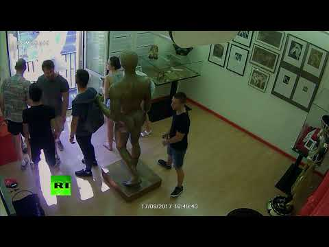 RAW: Moment van mows down pedestrians in Barcelona caught on camera (DISTURBING FOOTAGE)