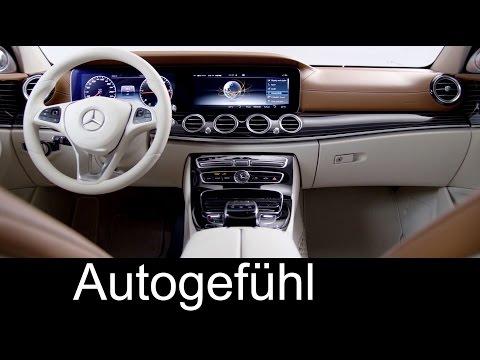 All-new Mercedes E-Class neue E-Klasse Preview Interior Innenraum & development 2017/2016