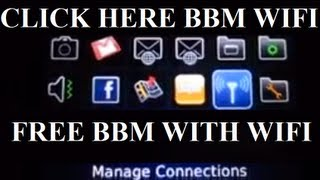 Using your BBM with WI-FI FOR FREE