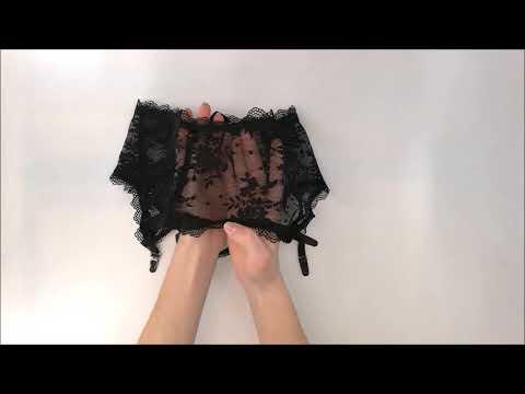 Pikantní podvazkový pás Behindy garter belt - Obsessive