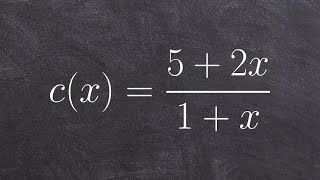 Find the x and y intercepts of a rational function