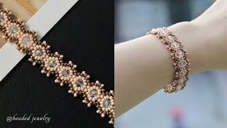 Elegant Bracelet DIY. How To Make Beaded Bracelet. Beaded Jewelry