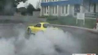 Mazda RX7 Nice Burnout