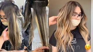 Hair TRANSFORMATION! Getting Rid Of Chunky Highlights   Blonde   Olaplex   Color Correcting