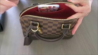 Louis Vuitton Alma BB Damier Ebene   Review   Red Ruby Creates
