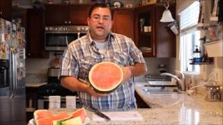 Picking a watermelon