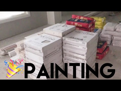 Building Our Dream Home | OUR HOUSE HAS BEEN PAINTED!!!! - Episode 11