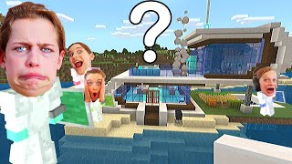 WHO BUILDS THE BEST BEACH HOUSE in Minecraft Gaming w/ The Norris Nuts
