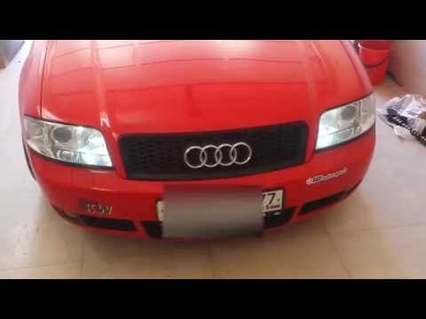 Daytime running lights and turn signals on Audi A6 C5