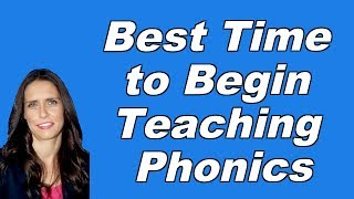 Best Time to Begin Teaching Phonics